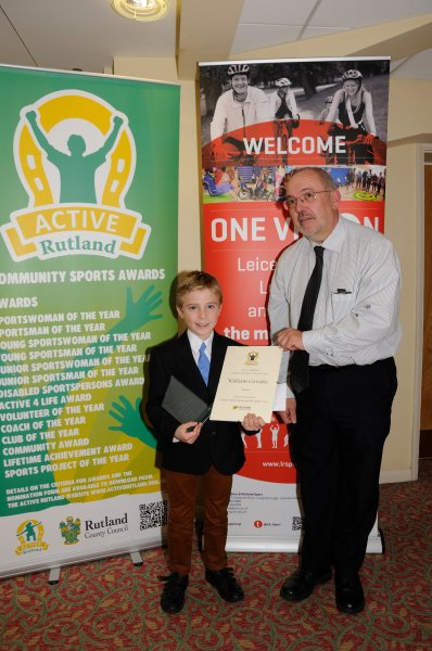 Winner of Rutland Sailing Club's Junior Sportsman of the Year